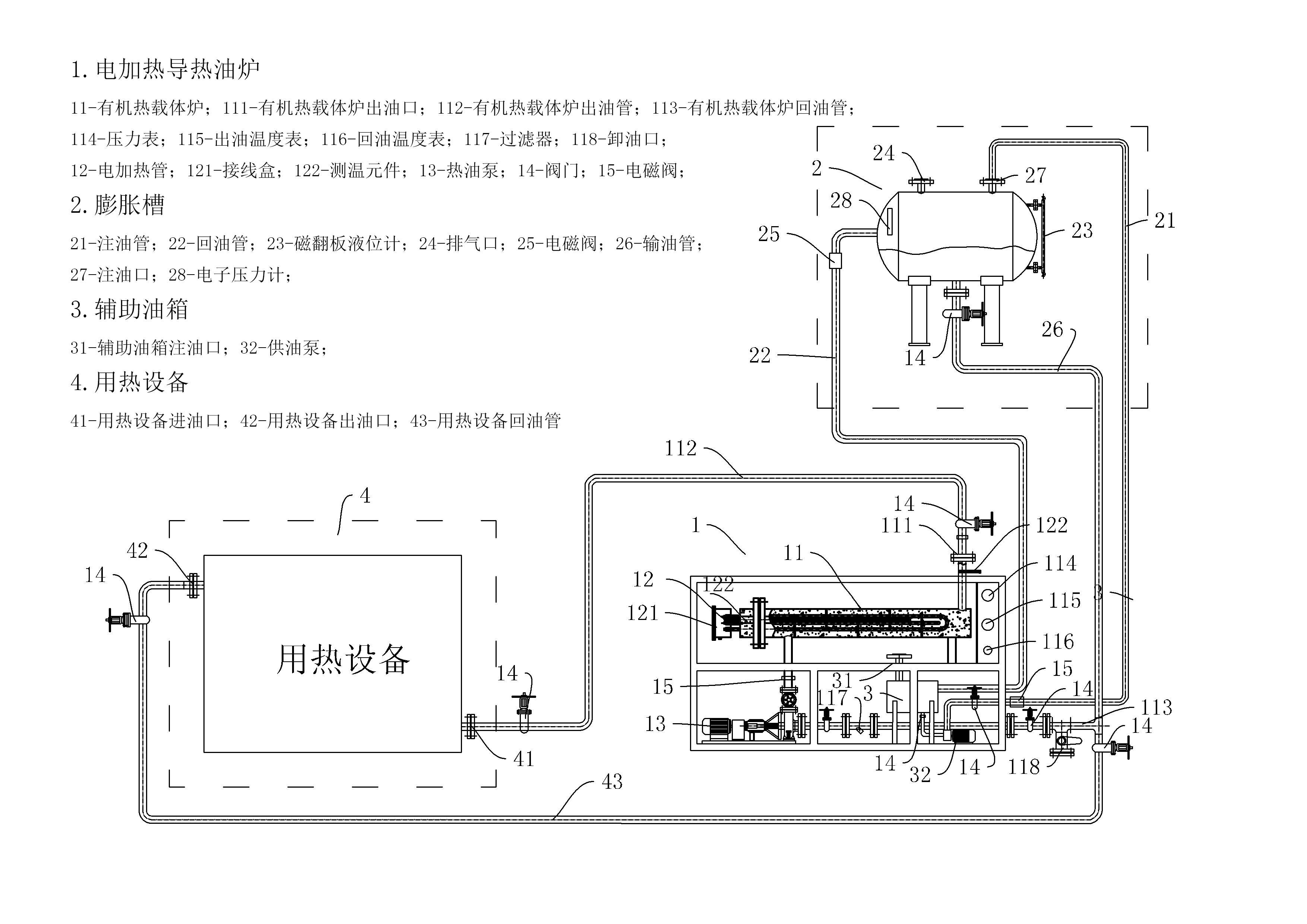 导热油热载体电加热系统图